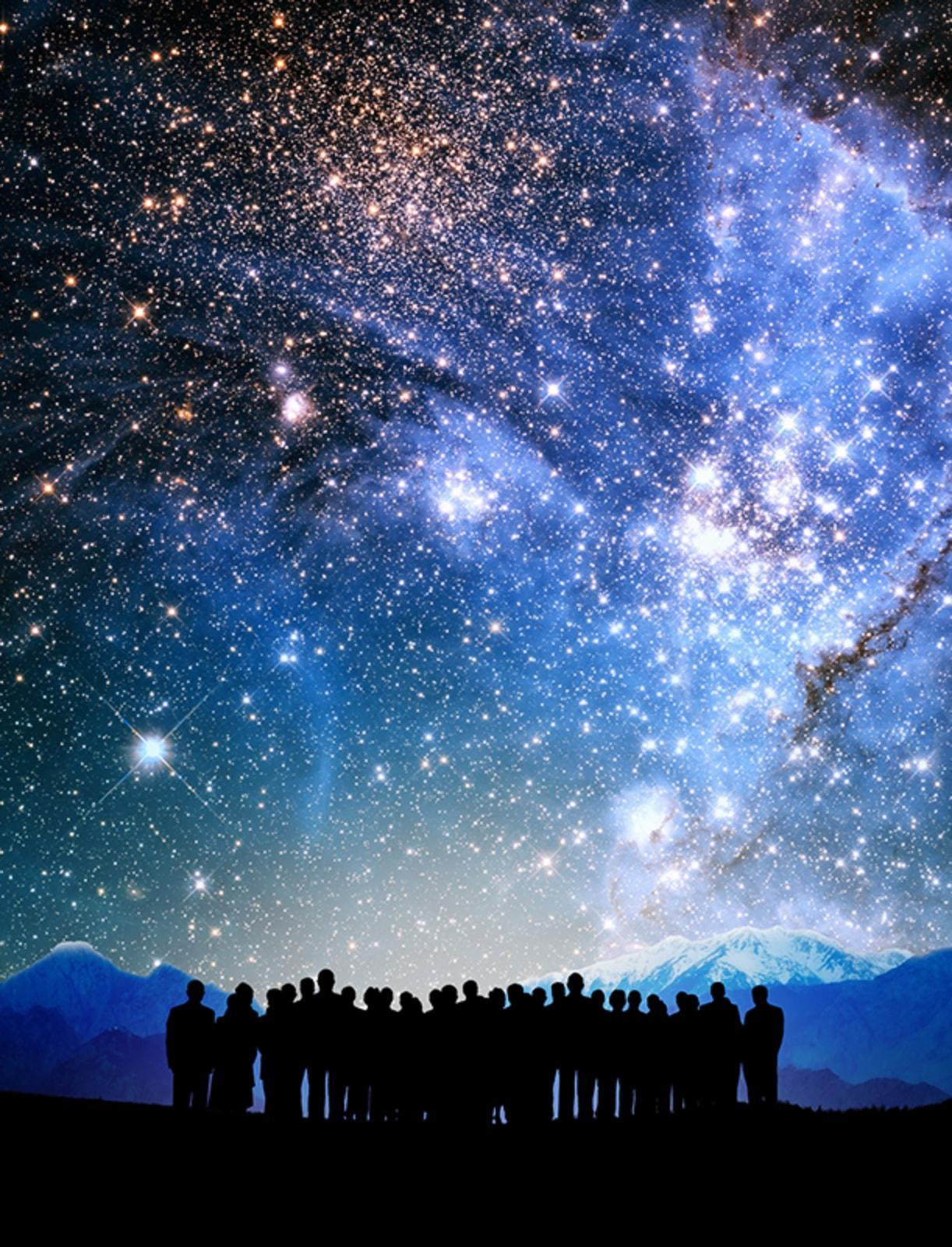 未来を創る技術分野に着目し、人材を提供し続ける超銀河団のイメージ